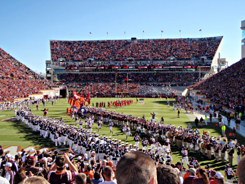 LETS GO HOKIES! Today, the Hokies have a chance to cinch to coastal division if they beat Miami. Jacory Harris is still out from a concussion from UVA so lets see if their freshman backup QB can put up with Bud Foster's defense!