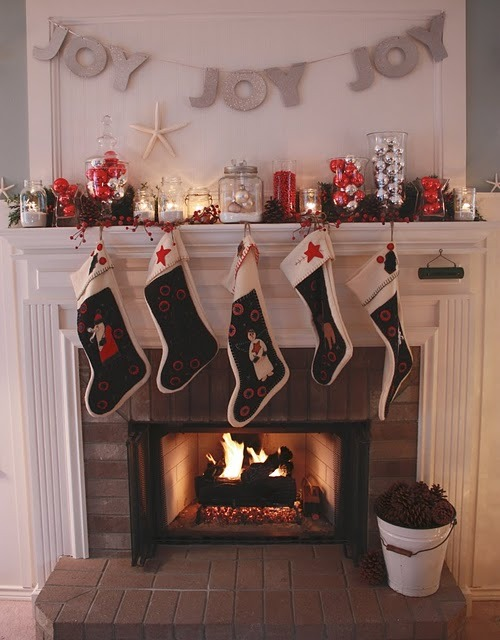 blackflipflops:  The Stories of A to Z: Christmas Mantels in Review: Mantel Inspiration Found Here!