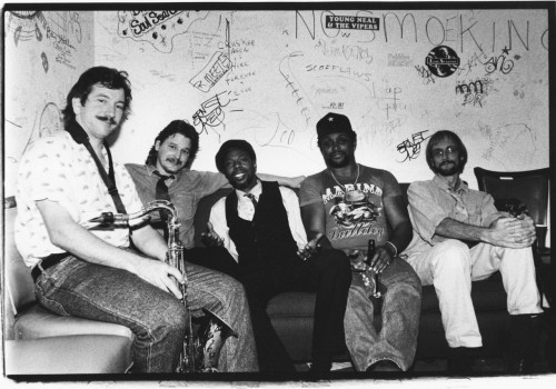 "146) Walter ""Wolfman"" Washington and the Roadmasters - Backstage at Tramp's, NYC - early to mid 1990s photo (c) Alan Strauber (all rights reserved) 11.20.10"
