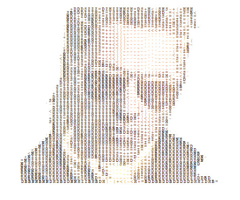 AWESOME! :D fuckyeahmastermiller:  He is dashing in ASCII art too