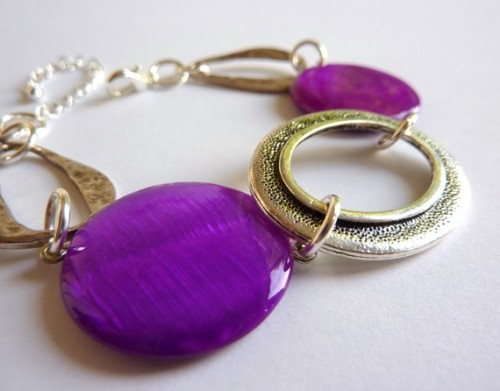 Purple Caro bracelet by Creations Libellule