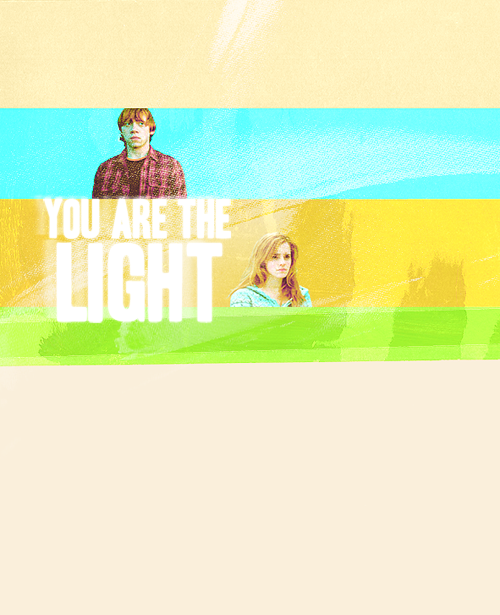 fuckyeahronhermione:  She is his light <3 <3 <3