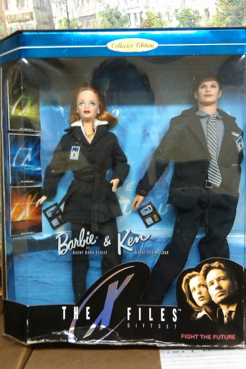 Mulder and Scully Barbie and Ken  via whatifoundatworktoday
