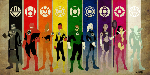 comicbooks:  Lantern Corps by Michel Mulipola  This is now the background on my phone.