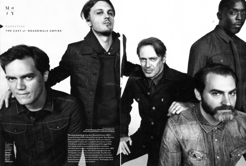GQ Men of the Year - The Cast of Boardwalk Empire: Gangsters Clockwise from left: Michael Shannon, Michael Pitt, Steve Buscemi, Michael Kenneth Williams, and Michael Stuhlbarg  some handsome motherfuckers