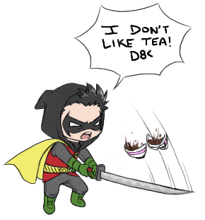 Damian's a coffee man. Source: Dean_Draws@LJ