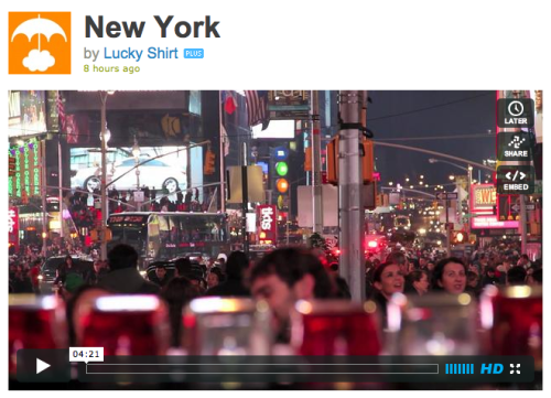luckyshirt:  Here is my New York video. Reposting for the weekday crew. Then I'll shut up. Still haven't heard from Ben Stiller's lawyers. Hey, Ben Stiller's lawyers: for your client's appearance in my film, I hereby agree to pay one hundred percent of the profits I made during its opening weekend.  this is a great video! man… makes me want to live somewhere interesting. and i mean, i know winnipeg is a big culture capital and all, but come on.