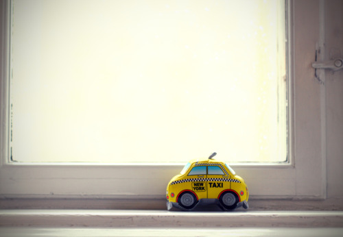 miniature NYC taxi. found in an office in Copenhagen, Denmark.