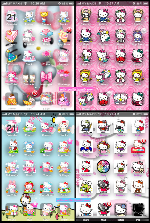 More Hello Kitty iPhone themes. My favorite is the zodiac one.
