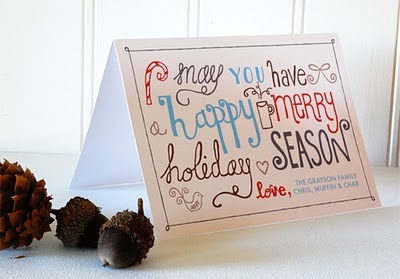 cookincrafter:  freebie printables - hand drawn christmas cards