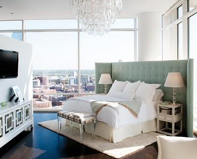 Glam bedroom on the diagonal with sick views!