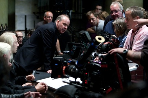 David Yates On set of Harry Potter and the Deathly Hallows Part 1, directed by David Yates