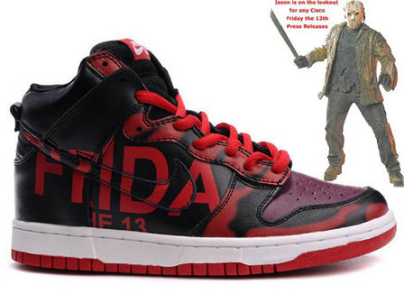 Nike Dunk Friday the 13th Custom Shoes by Mizzee   get your shoes !