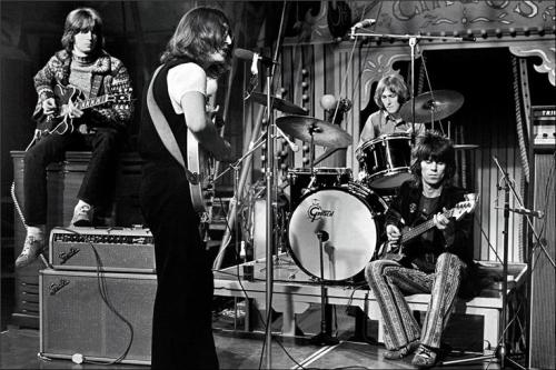 Eric Clapton, John Lennon, Mitch Mitchell and Keith Richards 1969