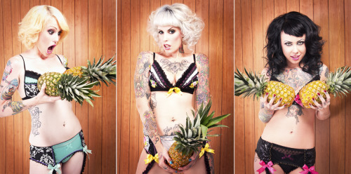 Photoshoot for Purrfect Pineapples Lingerie.