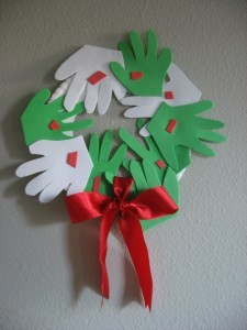 Hand Print Holiday Wreath | No Time For Flash Cards