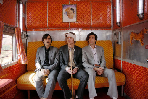 The Darjeeling Limited (2007) Director: Wes Anderson Writers: Wes Anderson & Roman Coppola & Jason Schwartzman  I wonder if the three of us would've been friends in real life. Not as brothers, but as people. (Jack)  Owen Wilson + Adrien Brody + Jason Schwartzman + Anjelica Huston + Camilla Rutherford + Bill Murray + Waris Ahluwalia