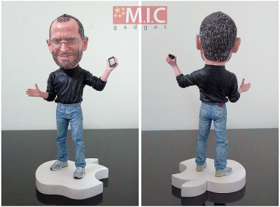 Steve Jobs Bobble-Head Doll: Teeny, Realistic…Magical? Available for $80. [via Mashable]