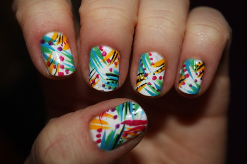 Rainbow Rainforest Nails