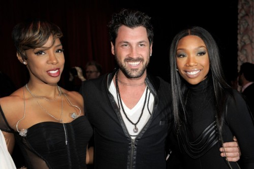 "Kelly, Maksim Chmerkovskiy & Brandy Attend ""Ne-Yo's VEVO Party"" 11/22/10"