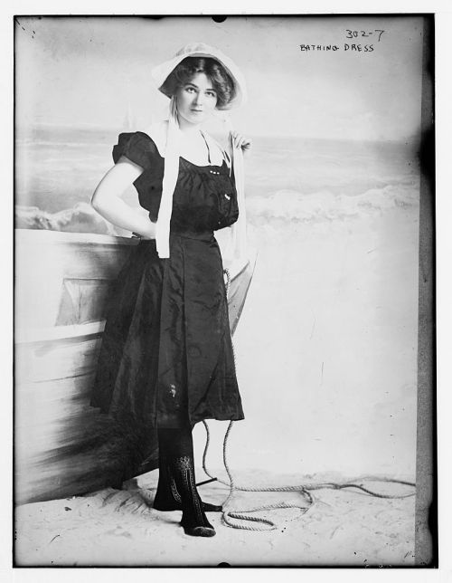 Bathing dress, no date recorded on caption card.