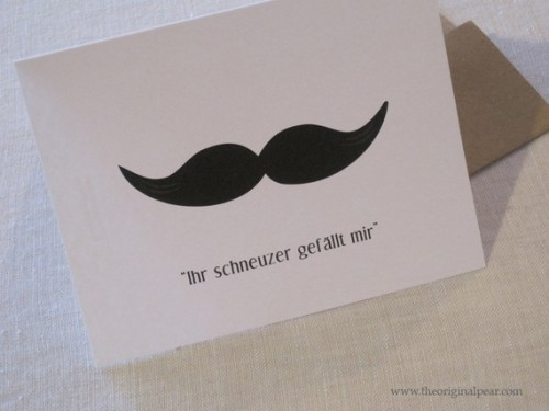 Ihr schneuzer gefallt mir / slang for Your Mustache Pleases Me