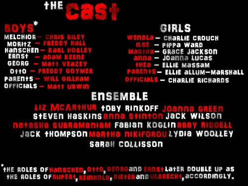 here's the cast list