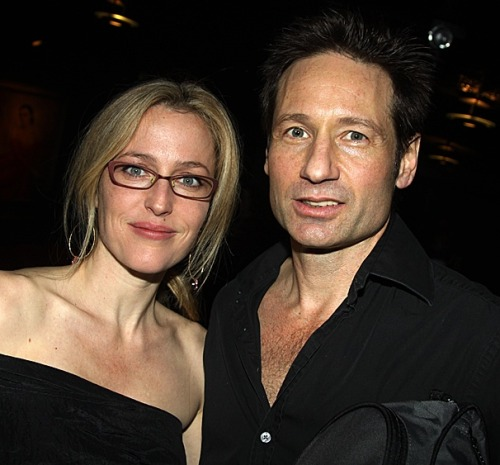 In a reunion made in U.F.O. heaven, David Duchovny and Gillian Anderson, the much-missed stars of TV's The X-Files, came together on November 22, opening night of Neil LaBute's The Break of Noon. Duchovny stars in MCC's off-Broadway production of the new play, which  centers on a man who sees the face of God after surviving a horrific  office shooting. (Hmm, sounds like a plotline fit for Agents Fox Mulder  and Dana Scully to tackle.) Looking better than they did when their  groundbreaking sci-fi series premiered back in 1993 (!), Duchovny and  Anderson posed for photos after the show. Hey, Gillian: You've done tons  of theater in London. Why not give Broadway a try? http://www.broadway.com/buzz/154387/the-truth-is-out-there-x-files-stars-david-duchovny-and-gillian-anderson-reunite-at-break-of-noon-bash/