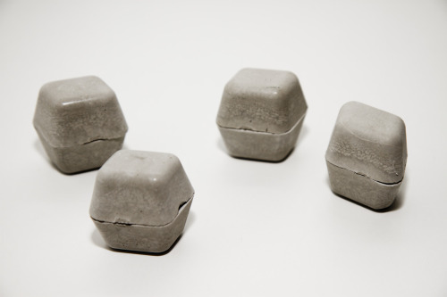 Beautiful. I want. kimasendorf:  Concrete Cubes | Abstract geometric sculptures build with concrete in ice cube forms