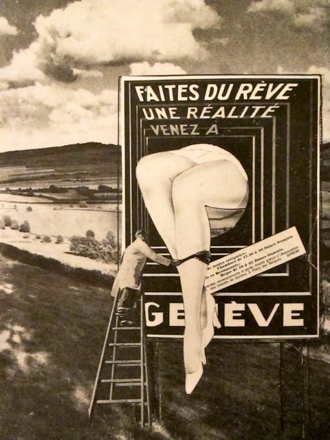 frenchtwist:  via billyjane:  Untitled collage,1930s by Léo Malet from  l'amour fou: photography & surrealism Also