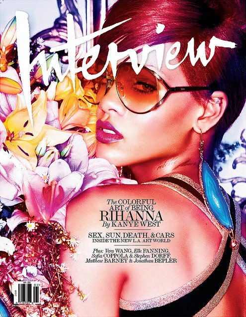 Interview December 2010, covered by Rihanna, who was interviewed by Kanye West