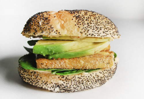TOFU + HUMMUS + SPINACH + AVOCADO SANDWICH