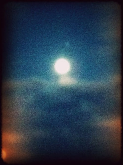 Photo: Moon surfing the clouds. Using the plastic bullet app.#iphoneography  plastic bullet