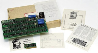 Rare Apple Computer Sells for $210,700 - As mentioned previously, an Apple-1, one of only about 200 such machines built in Apple co-founder Steve Jobs' parents' garage, sold at Christie's auction house in London yesterday for 133,250 pounds (about $210,700). The winning bidder was Italian businessman, private collector and Apple ultimate fanboy Marco Boglion, who made his offer over the phone.