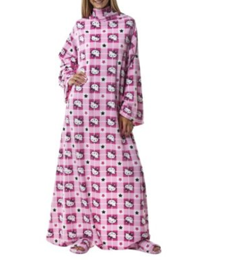 hello-kitty: Pink Hello Kitty Snuggie Not even going to lie, I would