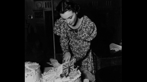 Vivien Leigh celebrates her 27th birthday on the set of That Hamilton Woman, November 5, 1940.