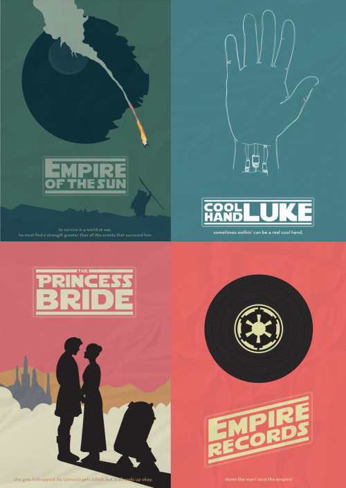 un:  (via pacalin) Awesome Star Wars Posters by Matt Ranzetta.