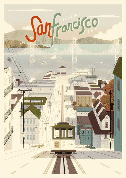 guillee:  I love this San Francisco poster by Kevin Dart. It's available as a print for just $30.