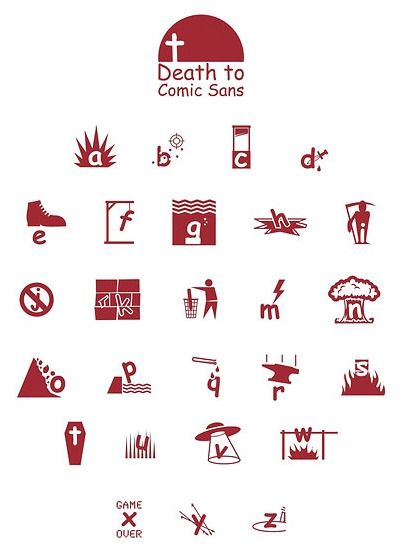 Como matar a la Comic Sans. laughingsquid: 26 Ways To Kill Comic Sans