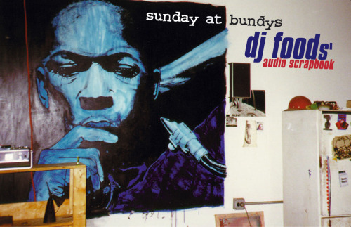 DJ Food - Sunday at Bundy's Mixtape - SIDE A Back in the late 90's we were touring in N. America and Japan a lot and  mixtapes were a small, cheap piece of merchandise to sell at shows so I  put this collection together. Using scraps of turntable jams from  Stealth, Solid Steel and various other gigs we'd been recording over the  preceding years as well as answerphone messages and other miscellanea,  this ramshackle collection resulted. It's all live, virtually all improvised, there are mistakes, needle  skips, sloppy scratches and bad sound quality (sound sources were from  cassette or portable DAT generally). There were possibly around 500  copies made but I only had one myself. The audio for this rip was taken  from the master DAT though and EQ'd and balanced in places to make it a  nicer listen. The cover image of a John Coltrane painting was taken in  Tortoise's kitchen in Chicago, one Sunday on a day off when PC and I  were there with Bundy K Brown, hence the title.Sunday At Bundy's - DJ  Food's Audio Scrapbook TRACKLIST: 1/ Starter (Liquid Rooms - Tokyo Nov '96)  2/ Words I Manifest (Liquid Rooms - Tokyo Nov '96) 3/ Here We Go, Are You Ready For Another (Stealth - Blue Note Dec '95) 4/ Ge' Down (Krush & Food - Osaka Nov '96)  5/ Don't Push Me! (Koln '95) 6/ Give The D.J A Breakfast (Liquid Rooms - Tokyo Nov '96) 7/ Electro Inferno (Liquid Rooms - Tokyo Nov '96) 8/ Squarepusher vs. Strictly Pt.2 (Solid Steel Dec '95) 9/ Crank This Mother (Osaka Nov '96)  10/ Idle Banter (Warwick '95) CLICK HERE FOR SIDE B