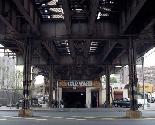 near Bedford Park/Lehman College station, the Bronx (4 line), 2003.
