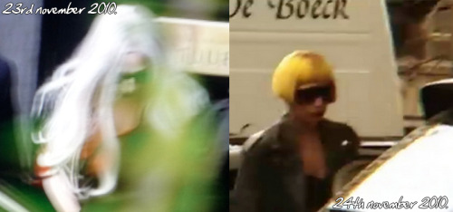 Today and yesterday Gaga did a photoshoot for Vogue US at the Royal Museum of Fine Arts in Antwerp, photographed by Mario Testino. (the genius behind gaga's 'V magazine' neon-style photographs!) Here are two photos from when Gaga's left the museum, so who knows what first 'Born This Way' photoshoot will endear!