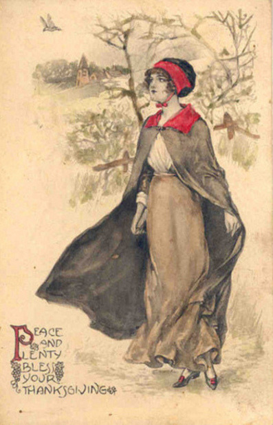 mothgirlwings:  Vintage Thanksgiving postcard - c. 1900's Happy Thanksgiving, lovely people! xoxox