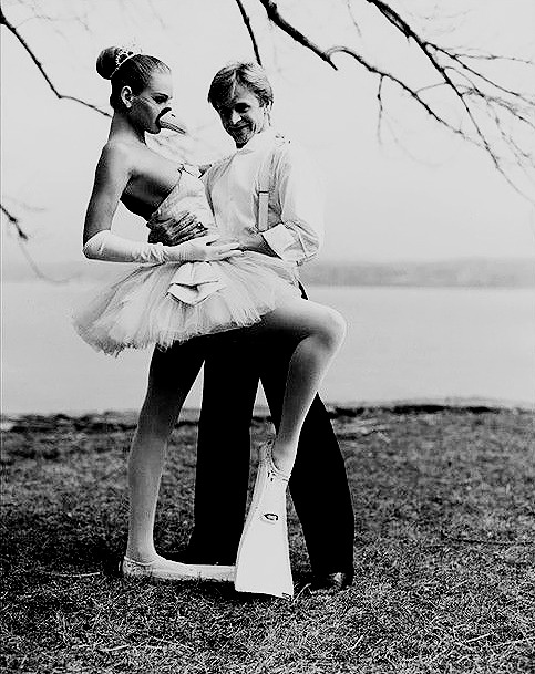 Mikhail Baryshnikov and Uma Thurman, 1987