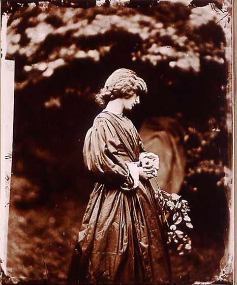 Jane Morris, posed by Rossetti by John R. Parsons, 1865