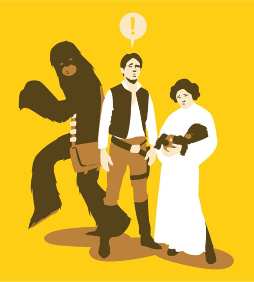 hmmmm, I bet Han is a little confused, eh?