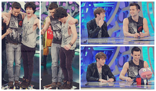 "harry and dougie on ""el hormiguero"" (24.11.2010)"