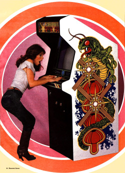 "heyoscarwilde:  ""Move over guys, here come the gals…women join the arcade revolution!"" Taken from Electronic Games (Reese Publishing Inc./1982)"