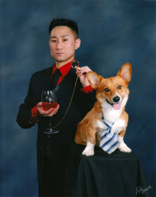 corgisandboobs:  This glorious motherfucker just changed the graduation portrait game.
