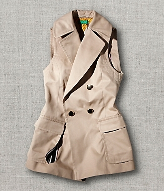 Sale!  Icon Sleeveless Trench, $199.99 at Tommy Hilfiger.